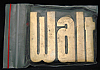 LF20143 *NOS* VINTAGE 1970s/80s CUT-OUT NAME ***WALT*** SOLID BRASS BUCKLE