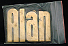 LF20144 *NOS* VINTAGE 1970s/80s CUT-OUT NAME ***ALAN*** SOLID BRASS BUCKLE