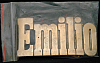 LF20153 *NOS* VINTAGE 1970s/80s CUT-OUT NAME ***EMILIO*** SOLID BRASS BUCKLE