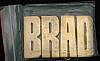 LF20159 *NOS* VINTAGE 1970s/80s CUT-OUT NAME ***BRAD*** SOLID BRASS BUCKLE