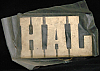 LF20160 *NOS* VINTAGE 1970s/80s CUT-OUT NAME ***HAL*** SOLID BRASS BUCKLE