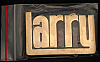 LF20161 *NOS* VINTAGE 1970s/80s CUT-OUT NAME ***LARRY*** SOLID BRASS BUCKLE