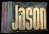 LF20164 *NOS* VINTAGE 1970s/80s CUT-OUT NAME ***JASON*** SOLID BRASS BUCKLE