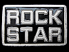 LF11130 AWESOME! ******ROCK STAR****** LIMITED EDITION MUSIC BELT BUCKLE