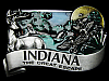 LF11150 VINTAGE 1984 ***INDIANA - THE GREAT ESCAPE*** SOUVENIR BELT BUCKLE