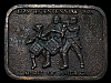 LF13149 VINTAGE 1976 ***SPIRIT OF AMERICA*** 1776-1976 BICENTENNIAL BELT BUCKLE