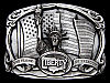 LF13155 VINTAGE 1985 THE STATUE OF LIBERTY THE FLAME OF FREEDOM BELT BUCKLE