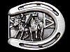 LF13161 VINTAGE 1984 ***BULL DOGGIN' COWBOY*** STEER WRESTLING RODEO BELT BUCKLE