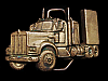 LF19124 NICE VINTAGE 1979 CUT-OUT ***SEMI-TRUCK CAB*** SOLID BRASS BELT BUCKLE