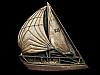 LF19133 VERY COOL VINTAGE 1979 CUT-OUT ***SAILBOAT*** SOLID BRASS BELT BUCKLE