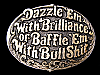LF19143 VINTAGE 1981 DAZZLE 'EM WITH BRILLIANCE OR BAFFLE 'EM... BELT BUCKLE