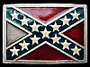 LF21140 VERY COOL VINTAGE 1982 **CONFEDERATE FLAG** REBEL BELT BUCKLE