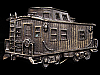 LF21147 NICE VINTAGE 1979 CUT-OUT TRAIN ***CABOOSE*** RAILROAD BELT BUCKLE