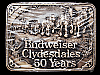 **NOS** VINTAGE 1983 BUDWEISER CLYDESDALES 50 YEARS SOLID BRASS BEER BELT BUCKLE