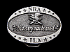 LG03129 VINTAGE 1970s ***NRA-ILA THAT EVERY MAN BE ARMED*** GUN BELT BUCKLE