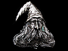 LG05125 VINTAGE 1979 CUT-OUT *FACE OF LONG-BEARDED WIZARD* FANTASY BELT BUCKLE