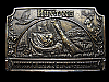 LG05131 VINTAGE 1976 ***PETERSEN'S HUNTING*** MAGAZINE BELT BUCKLE