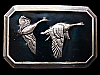LG07108 REALLY NICE VINTAGE 1976 ***TWO FLYING GEESE*** BELT BUCKLE