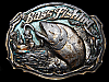 LG07139 VINTAGE 1987 ***BASS FISHING*** COMMEMORATIVE BELT BUCKLE
