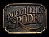 LG09163 VINTAGE 1981 ***RALEIGH LIGHTS RODEO*** CIGARETTE BELT BUCKLE