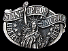 LG13134 VINTAGE 1984 ***STAND UP FOR AMERICA*** LIBERTY & FREEDOM BELT BUCKLE
