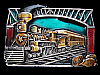 LG13153 AWESOME VINTAGE 1983 **GOLDEN AGE OF RAIL TRAVEL** RAILROAD BELT BUCKLE