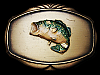 VERY COOL VINTAGE 1978 LARGE MOUTH BASS FISHING BELT BUCKLE