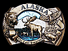 LG19153 VINTAGE 1986 **ALASKA** THE LAST FRONTIER THE GREAT LAND SOUVENIR BUCKLE