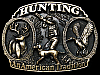 LH03127 VINTAGE 1986 ***HUNTING - AN AMERICAN TRADITION*** BELT BUCKLE