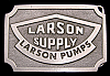 **NOS** GREAT VINTAGE 1980s ***LARSON PUMPS & SUPPLY*** OILFIELD BUCKLE