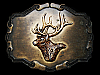 VERY COOL VINTAGE 1970s **BIG BUCK DEER HEAD** BELT BUCKLE