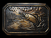 LH05133 VINTAGE 1977 **FISHING IN LAKE** COMMEMORATIVE BELT BUCKLE