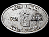 LH07124 VINTAGE 1985 **SIXTH ANNUAL SUN ANGEL TRACK CLASSIC** BELT BUCKLE