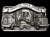 VINTAGE 1982 AMERICAN TRUCK DRIVER COMMEMORATIVE BELT BUCKLE