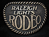 LH11105 REALLY NICE VINTAGE 1970s **RALEIGH LIGHTS RODEO** TOBACCO BELT BUCKLE