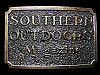 LI01102 VINTAGE 1982 **SOUTHERN OUTDOORS MAGAZINE** BELT BUCKLE