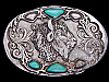 COOL VINTAGE 1992 BUFFALO SOUTHWESTERN DESIGN BELT BUCKLE