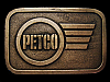 GREAT VINTAGE 1970s *****PETCO***** COMPANY BELT BUCKLE