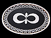 LK03121 REALLY COOL VINTAGE 1970s ***INFINITY SYMBOL*** ART/FASHION BELT BUCKLE