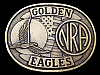 LK03127 VERY COOL VINTAGE 1970s ***NRA GOLDEN EAGLES*** BELT BUCKLE