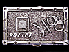 LK03138 VINTAGE 1970s ***POLICE*** (REVOLVER, BATON, CUFFS & BADGE) BELT BUCKLE