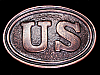 LK03144 VINTAGE 1970s RETRO ***UNITED STATES CIVIL WAR*** BELT BUCKLE