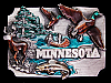 LK03147 **NOS** AWESOME VINTAGE 1989 ***MINNESOTA*** SOUVENIR BELT BUCKLE