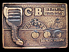 LK03162 VERY COOL VINTAGE 1975 ***CB RADIO UNIT*** TRUCKER BELT BUCKLE