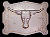 LK03163 VINTAGE 1970s ****CATTLE HEAD**** WESTERN & COWBOY BELT BUCKLE