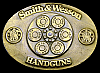 LK06175 AWESOME VINTAGE 1989 ***SMITH & WESSON*** 44 MAGNUM PISTOL GUN BUCKLE