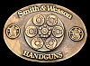 LK06176 **NOS** VINTAGE 1989 ***SMITH & WESSON*** 44 MAGNUM PISTOL GUN BUCKLE