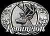 LK06191 REALLY NICE VINTAGE 1994 **REMINGTON FIREARMS** BIG BUCK DEER GUN BUCKLE