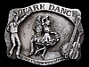 LK15120 VINTAGE 1988 ***SQUARE DANCE*** COMMEMORATIVE BELT BUCKLE