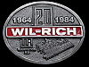 LK15138 **NOS** VINTAGE 1984 ***WIL-RICH*** 20 YEARS COMMEMORATIVE BELT BUCKLE